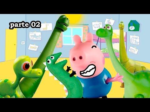 Filmes de animação completos dublados 2017 lançamento - Peppa Pig NOVELINHA dinossauro  George transforma família Pig em dinossauro TOTOYKIDS parte 2
