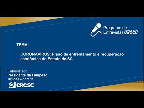 Entrevista com o Presidente da FAMPESC, Alcides Andrade, sobre CORONAVÍRUS: Pacote de medidas econômicas para SC