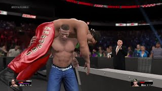 WWE 2K15  John Cena vs Great Khali Fall Count Anywhere Match At Royal Rumble 2015 (PS4)
