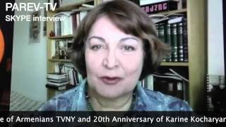 ARHNJ Vartan Abdo's Skype Interview with Karine Kocharyan on Parev TV