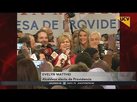 video Evelyn Matthei se impuso a Josefa Errázuriz en Providencia