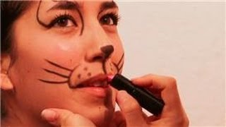 Face Painting and Makeup : How to Make a Cat's Nose & Whiskers With Makeup