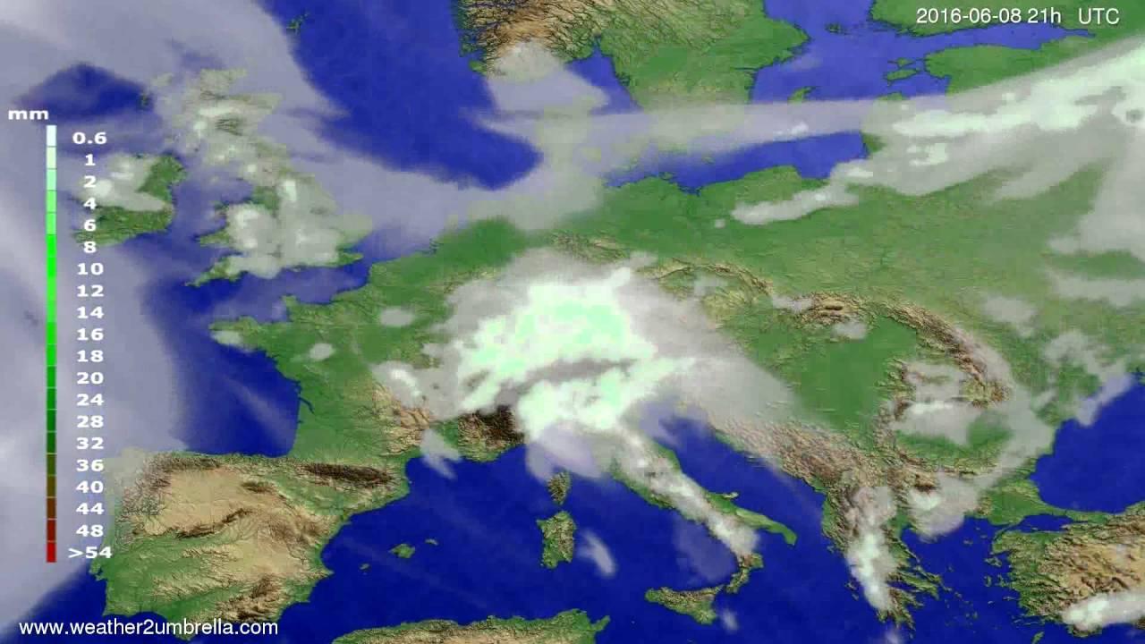 Precipitation forecast Europe 2016-06-05