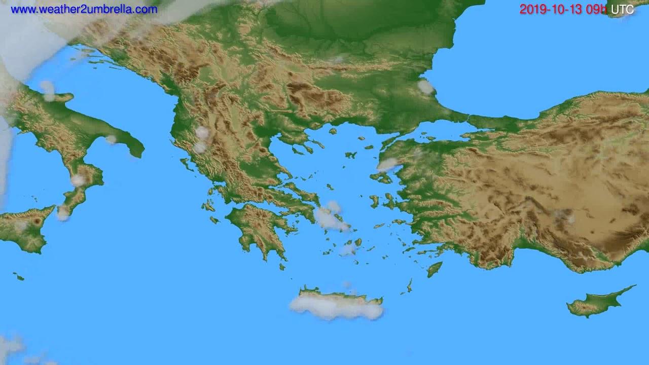 Cloud forecast Greece // modelrun: 12h UTC 2019-10-11