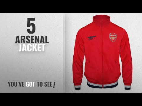 Top 10 Arsenal Jacket [2018]: Arsenal FC Official Football Gift Mens Retro Track Top Jacket