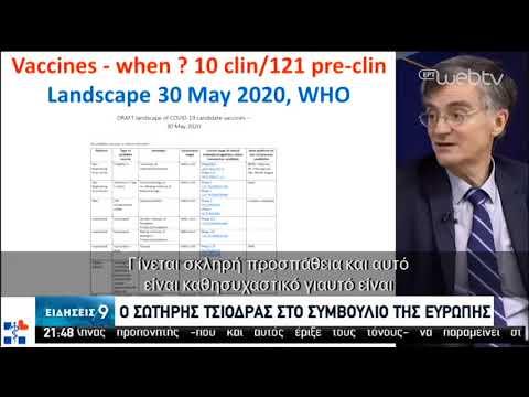 Ο Σωτήρης Τσιόδρας στο Συμβούλιο της Ευρώπης | 01/06/2020 | ΕΡΤ