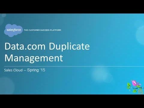 Spring '15 - Data.com Duplicate Management