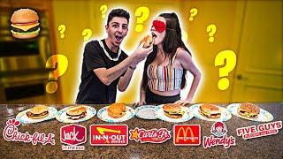 Video GUESS THAT FAST FOOD BURGER! **Blindfold Taste Test** MP3, 3GP, MP4, WEBM, AVI, FLV Mei 2019