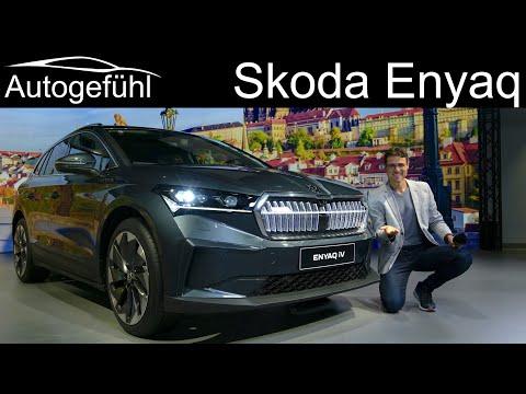 Skoda Enyaq iV Premiere all-new electric SUV Exterior Interior - Autogefühl