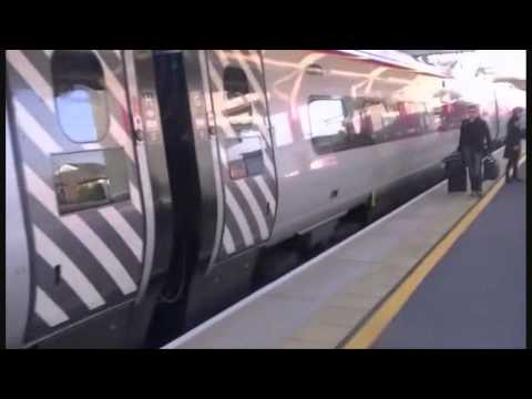 Virgin Pendolino Pulling Into Macclesfield Station (Part 4)
