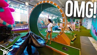 Video THE CRAZIEST MINI GOLF COURSE IN THE WORLD! - DOUBLE HOLE IN ONE AND INSANE HOLES! MP3, 3GP, MP4, WEBM, AVI, FLV Desember 2018