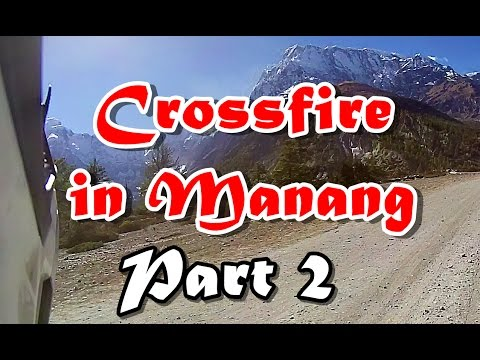 2016 Asia Wing Crossfire XZ250RR enduro - The rough road to Upper Manang, Nepal pt2