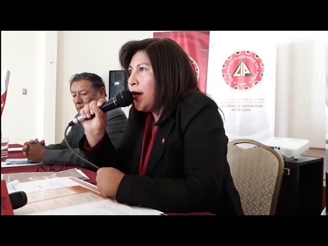 PRESENTAN PROGRAMA POR EL 41 ANIVERSARIO DEL C I P  CONSEJO DEPARTAMENTAL MOQUEGUA. 04/06/18