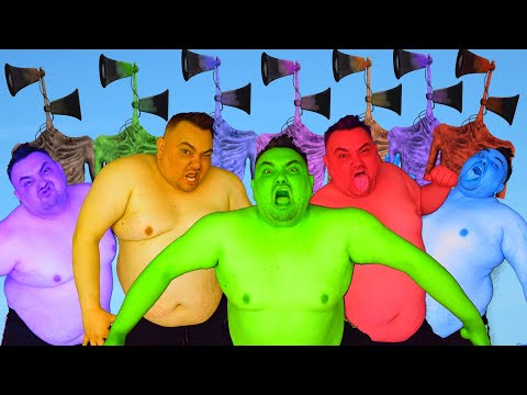 Team Hulk VS All Color Team Siren Head