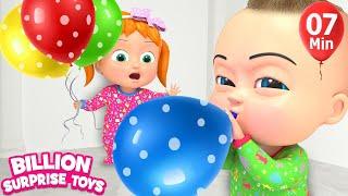Kids Baloon Song | + More Kids Songs | Billion Surprise Toys