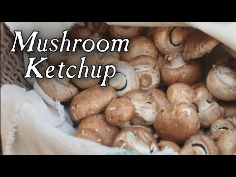 Mushroom Ketchup Made Using an 18th Century Recipe