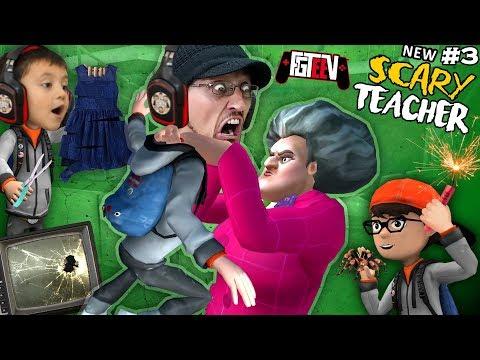 RUINING SCARY TEACHER'S LIFE!  The Hot Sauce Spidery Birthday!  (FGTeeV #3)