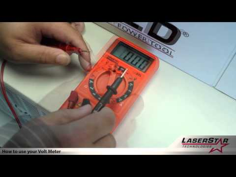 <h3>How to Use Your Volt Meter (All Laser Systems)</h3>