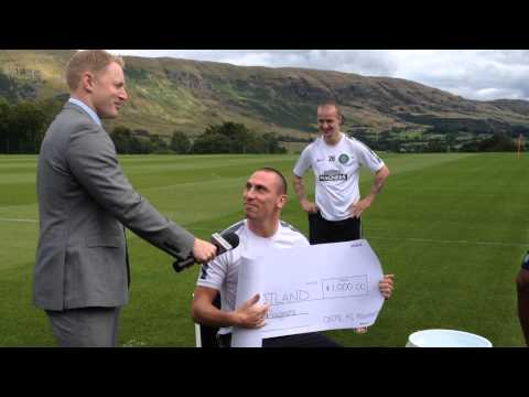 Scott - Club Captain Scott Brown takes on the #icebucketchallenge for @MNDScotland as the Celtic FC Foundation makes a £1000 donation to the charity.