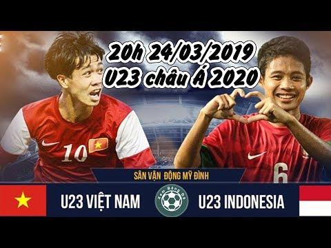 U23 Việt Nam vs U23 Indonesia bảng K vòng loại U23 châu Á 2020 @ vcloz.com
