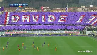 Video The Fiorentina game comes to a halt in the 13th minute as they pay tribute to Davide Astori MP3, 3GP, MP4, WEBM, AVI, FLV Maret 2018