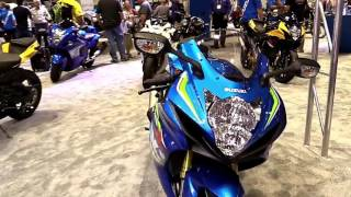 7. 2018 Suzuki GSXR 750 Blue Sapphire Exclusive Features Edition First Impression Walkaround HD