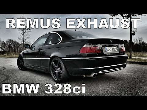 BMW 328ci e46 REMUS Sportauspuff  EXHAUST R6 ENGINE SOUNDS M52B28