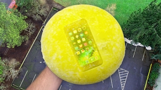 Can iPhone 7 Survive 100 FT Drop Test Frozen in Mountain Dew? Frozen Two Months!!