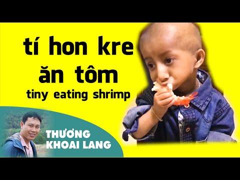 tí hon Kre thích ăn tôm và rất lễ phép nhờ thầy Cương dạy dỗ   THƯƠNG KHOAI LANG