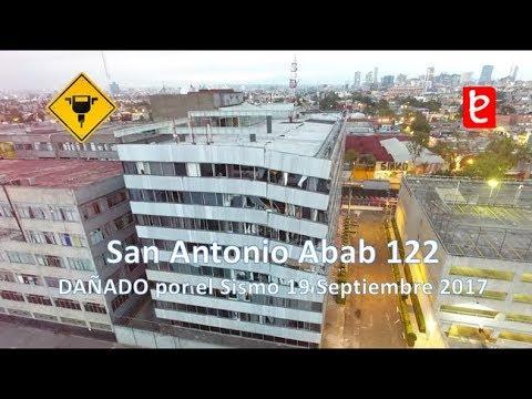 Dañado Edificio San Antonio Abad 122 (Sismo 19/9/17) | www.edemx.com (видео)