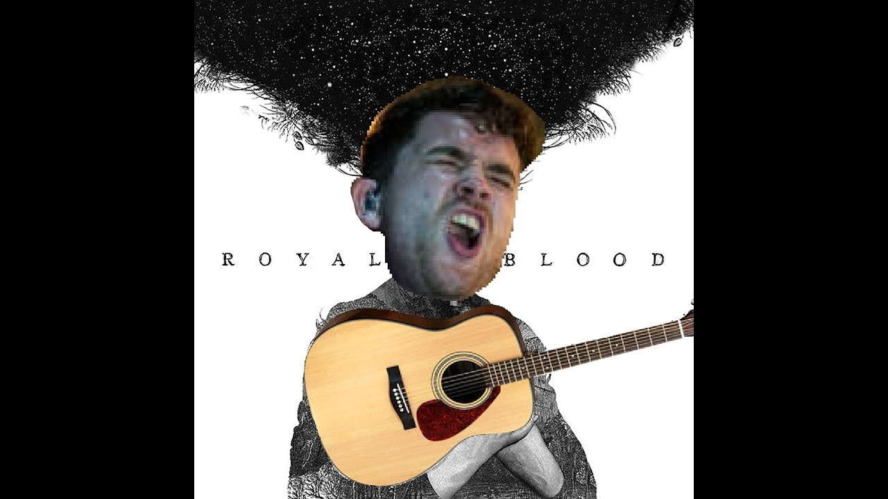 Royal Blood but it's on an Acoustic Guitar
