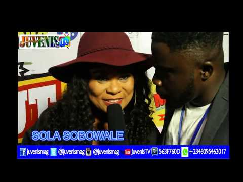 Nollywood Diva, Sola Sobowale(Toyin Tomato) Stuns @'KNOCK OUT' Movie Premiere