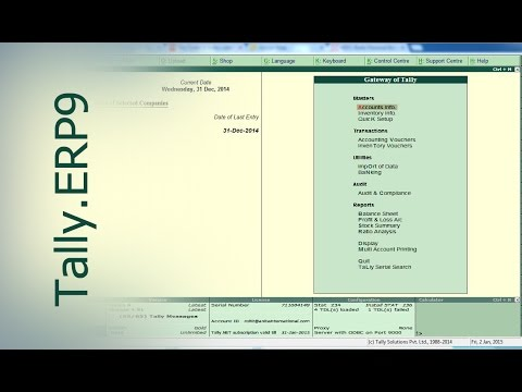 Tally.ERP9 : Learn Tally in 20 mins (Part-2, Inventory Management)