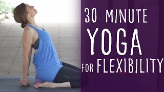Video 30 Minute Yoga for Flexibility with Fightmaster Yoga MP3, 3GP, MP4, WEBM, AVI, FLV Maret 2018