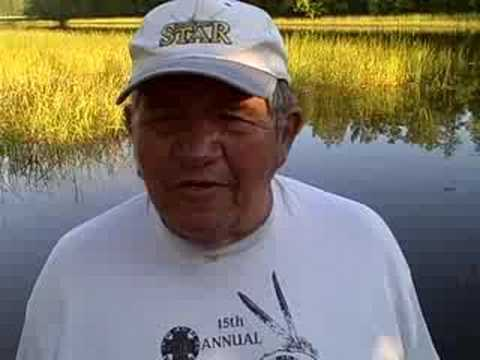 Myron Burns, elder from the Bad River Ojibwe, explains the importance of manoomin