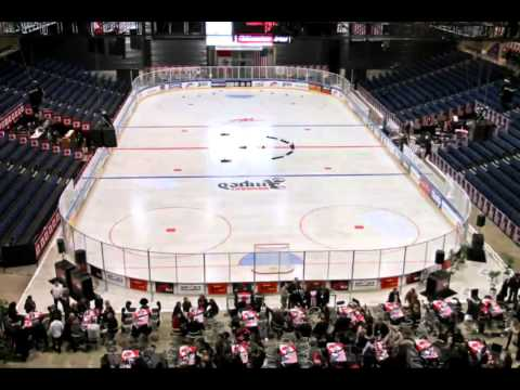Building an Ice-World ice hockey rink timelapse 6 minutes