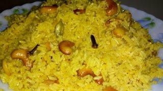 Bengali Basanti Pulao Recipe   Sweet Yellow Rice Recipe