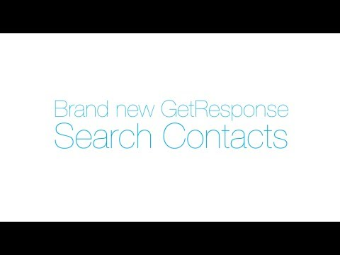 Brand new Search Contacts from GetResponse