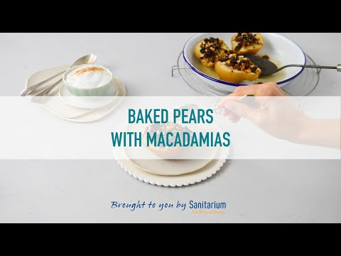Baked pears with macadamia thumbnail 2