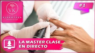 Manicura con torno. Video en directo