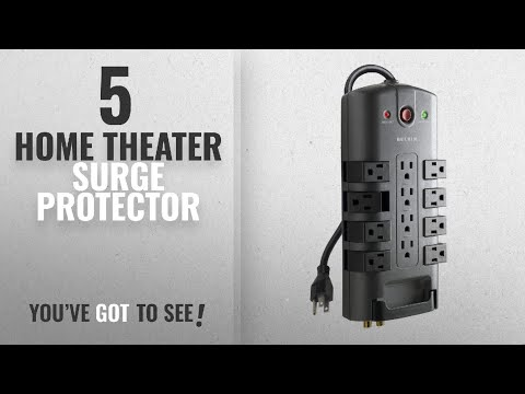 Top 5 Home Theater Surge Protector [2018]: Belkin 12-Outlet Pivot-Plug Power Strip Surge Protector