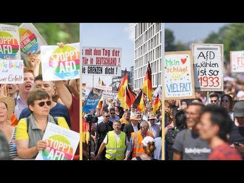 AfD-Demo in Berlin trifft auf 25.000 Gegendemonstra ...