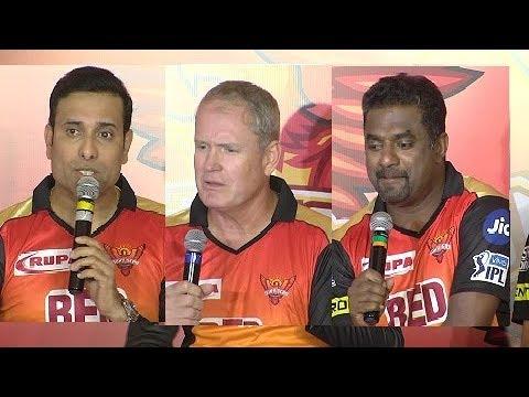 IPL2018 Sunrisers Hyderabad Team Media Interaction