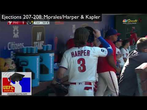 Ejections 207-208 - Gabe Morales Ejects Bryce Harper & Kapler After K, Video Review
