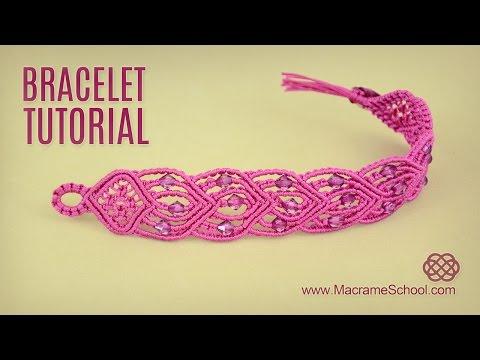 macramè – braccialetto con cuori collegati