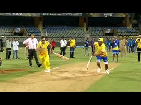 MS Dhoni VS DJ Bravo Running Competition - Chennai Super Kings Whatsapp Status