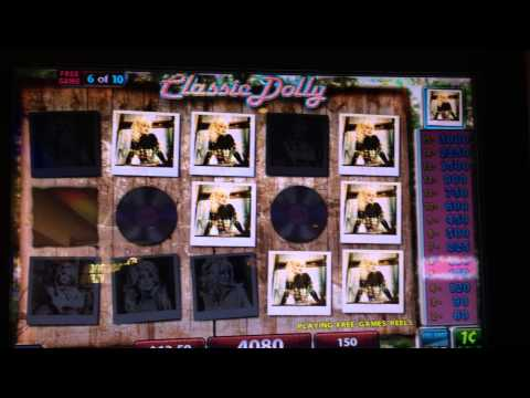 Dolly Parton Slot Machine Bonus - Classic Dolly Free Spins - Big Win!!!