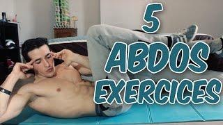 5 meilleurs ABDOS exercices pour un VENTRE PLAT et le V!