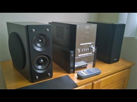 Panasonic SC-PM27 shelf system with subwoofers!  SA-PM27 mini stereo