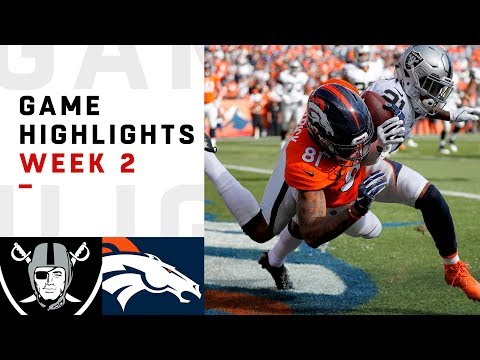 Raiders vs. Broncos Week 2 Highlights | NFL 2018
